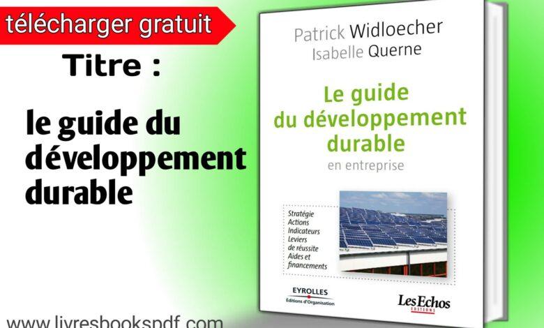 Photo de Télécharger Le guide du développement durable pdf gratuit